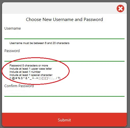 New User Name and Password_New Users